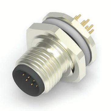 Новый продукт: M12 разъемы с 8/12 контактами для печатных плат или панелей